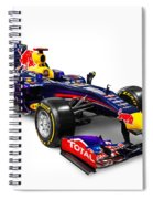 Infinity Red Bull Rb9 Formula 1 Race Car Spiral Notebook