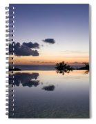 Infinity Reflection Pool Spiral Notebook