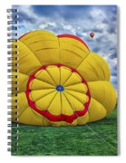 Inflating The Hot Air Balloon Spiral Notebook