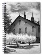 Infrared Barn Spiral Notebook