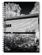 Infrared Covered Bridge Spiral Notebook
