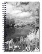 Infrared Mill Pond Spiral Notebook