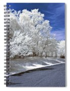 Infrared Road Spiral Notebook