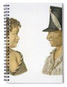Inhabitants Of New Zealand, 1826 Spiral Notebook