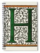 Initial 'h', C1600 Spiral Notebook