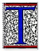 Initial 't', C1600 Spiral Notebook