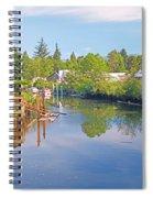 Inlet Of The Columbia River At Skamokawa Washington Spiral Notebook