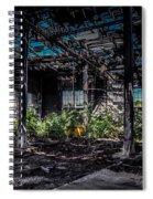 Inside An Abandon Building Spiral Notebook