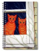 Orange Cats Looking Out Window Spiral Notebook