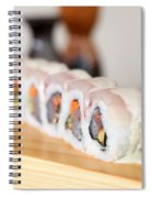 Inside Out Tuna Sushi Spiral Notebook