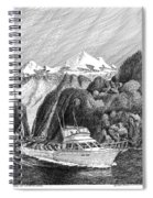 Cruising The Inside Passage Spiral Notebook