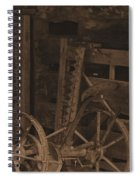 Inside The Barn In Sepia Spiral Notebook