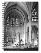 Inside The Cathedral Basilica Of The Immaculate Conception 1 Bw Spiral Notebook