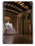 Inside The Lincoln Memorial Spiral Notebook