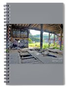 Inside The Old Train Roundhouse At Bayshore Near San Francisco And The Cow Palace Iv Spiral Notebook