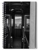 Inside Trolley 28 Black And White Spiral Notebook