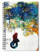 Inspirational Art - You Can Do It - Sharon Cummings Spiral Notebook