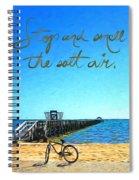 Inspirational Beach - Stop And Smell The Salt Air Spiral Notebook