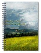 Inspirational - Eternal Hope - Psalms 19-1 Spiral Notebook