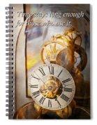 Inspirational - Time - A Look Back In Time - Da Vinci Spiral Notebook
