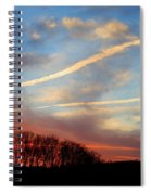 Interesting Sunset Spiral Notebook