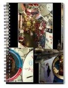 Interior Hatches Collage Russian Submarine Spiral Notebook