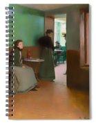 Interior Of A Cafe Spiral Notebook