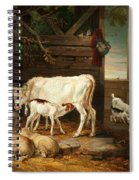 Interior Of A Stable, 1810 Spiral Notebook