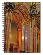 Interior Of Hungarian Parliament Spiral Notebook