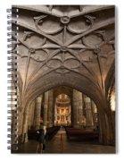 Interior Of Jeronimos Monastery Church In Lisbon Spiral Notebook