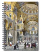 Interior Of San Marco Basilica, Looking Spiral Notebook