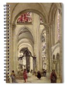 Interior Of The Cathedral Of St. Etienne, Sens Spiral Notebook