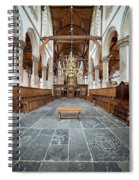 Interior Of The Oude Kerk In Amsterdam Spiral Notebook