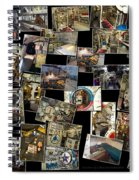 Interior Russian Submarine Horz Collage Spiral Notebook