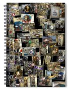 Interior Russian Submarine Vert Collage Spiral Notebook