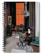 Interior - The Orange Blind, C.1928 Spiral Notebook