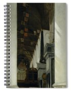 Interior View Of The New Church In Delft Spiral Notebook