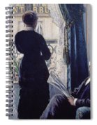 Interior Woman At The Window Spiral Notebook