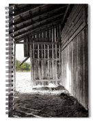 Interiors In Black And White Spiral Notebook