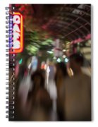 International Cafe Neon Sign And Street Scene At Night Santa Monica Ca Landscape Spiral Notebook