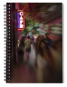 International Cafe Neon Sign And Street Scene At Night Santa Monica Ca Portrait Spiral Notebook
