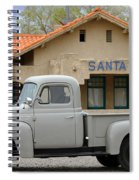 International Harvester L-110 Truck At Santa Fe Train Depot Spiral Notebook