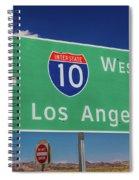 Interstate 10 Highway Signs Spiral Notebook