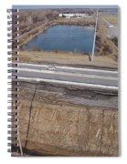 Interstate 75 Construction Ohio Aerial Spiral Notebook