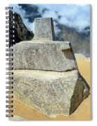 Inti Watana Stone Calendar At Machu Picchu Spiral Notebook