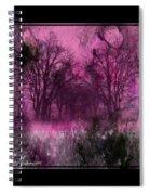 Into A Dark Pink Forest Spiral Notebook