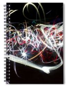 Into Chaos One Last Time...light Painting Spiral Notebook