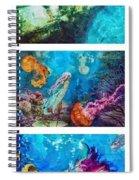 Into Deep Triptic Spiral Notebook