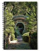 Into The Enchanted Garden Spiral Notebook