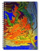 Into The Flames Of Hell Spiral Notebook
